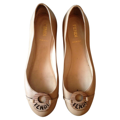 Fendi ballerines with engraved medaillon
