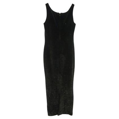 Versace Robe à lanières en noir