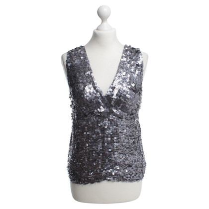 DKNY top with sequin trim