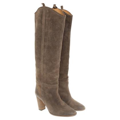 Isabel Marant bottes en cuir kaki