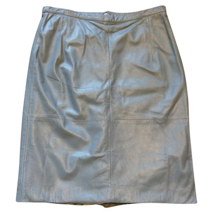 Mabrun Light blue leather skirt