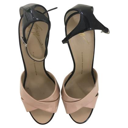 Giuseppe Zanotti Sandals in Nude / Black