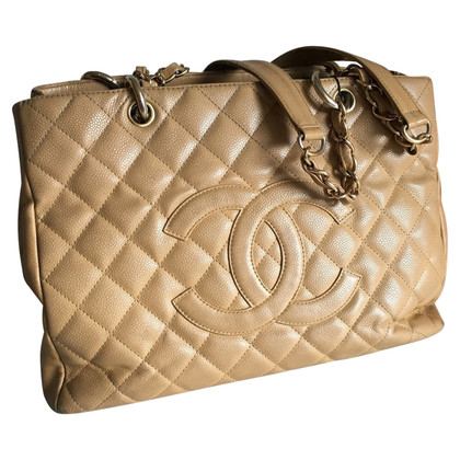 "Chanel ""Grand Tote winkelen"" kaviaar leder"