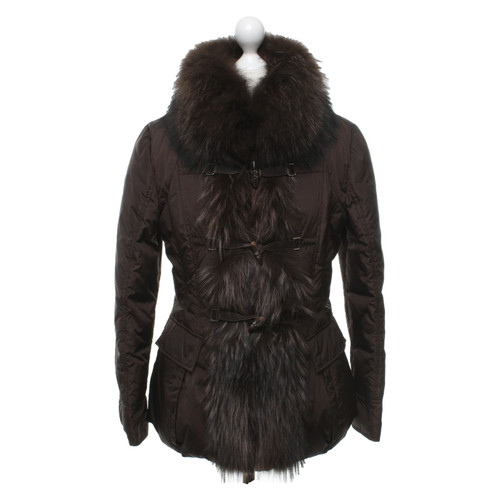 the latest fbe67 58759 Moncler Jacke/Mantel in Braun - Second Hand Moncler Jacke ...