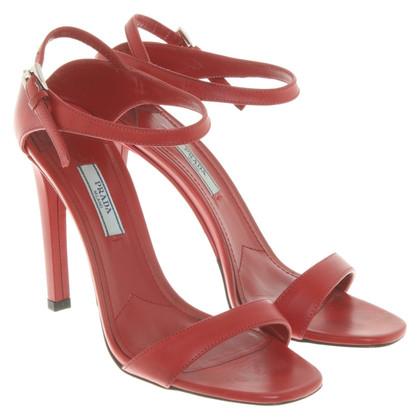 Prada Sandals in red