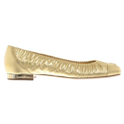 Chanel Goldfarbene Ballerinas