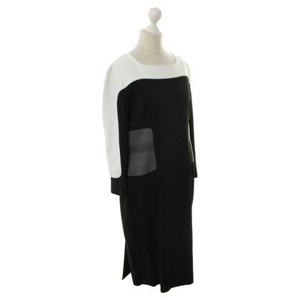 Aquilano Rimondi Jurk in zwart/wit/grijs