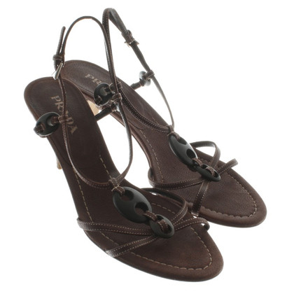 Prada Brown Sandals leather