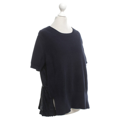 N°21 Short-sleeved sweater in blue