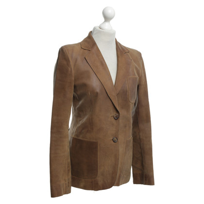 Miu Miu Leather blazer in brown