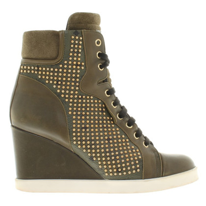 MCM Sneaker Wedges in Olive