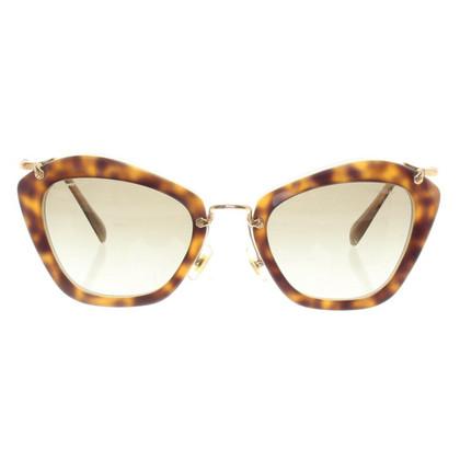 Miu Miu Sonnenbrille mit Schildpatt-Muster