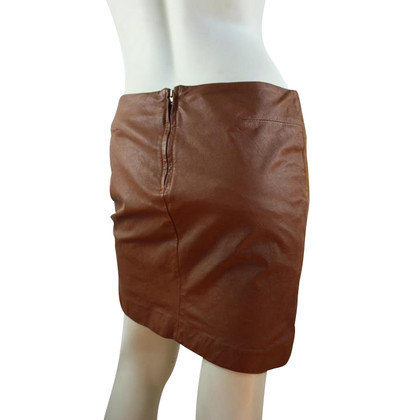 Filippa K Brown skirt with suède & leather