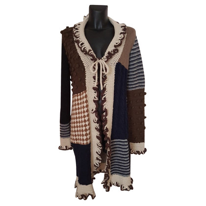 Moschino Patchwork-Strickjacke