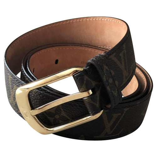 Louis Vuitton Belt Leather in Brown - Second Hand Louis
