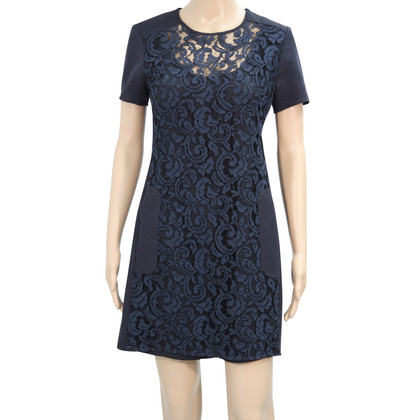French Connection Lace dress in dark blue