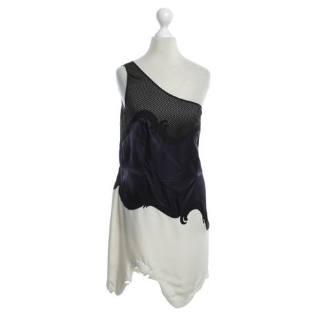 Stella McCartney Kleid in Schwarz/Violett/Wei