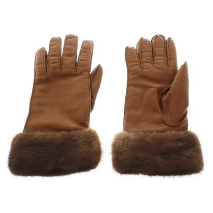 Prada Fur-trimmed gloves