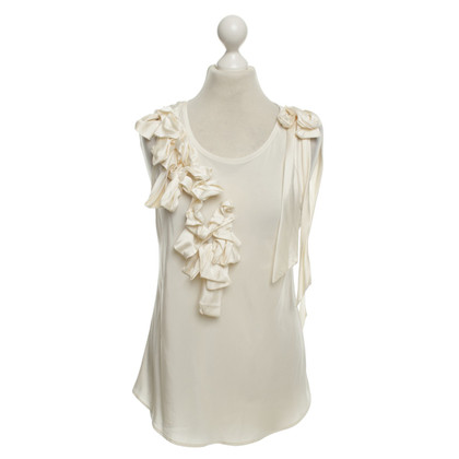 Hugo Boss top in cream