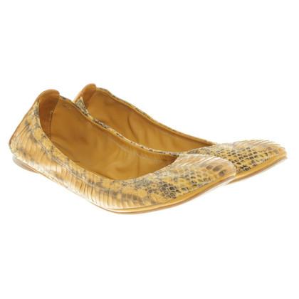Tory Burch Ballerina's slangenhuid