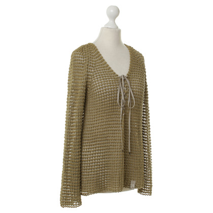 Marc Cain Knitted jumper with lacing