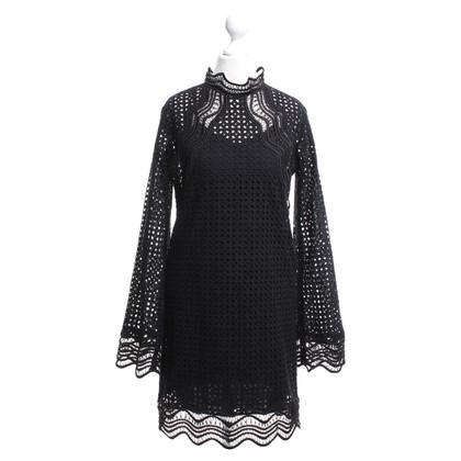 Iro robe de dentelle en noir