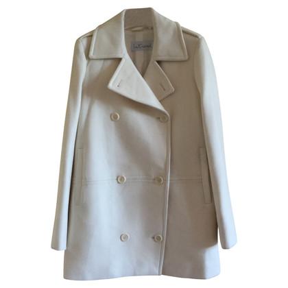 Max Mara white coat with cashmere
