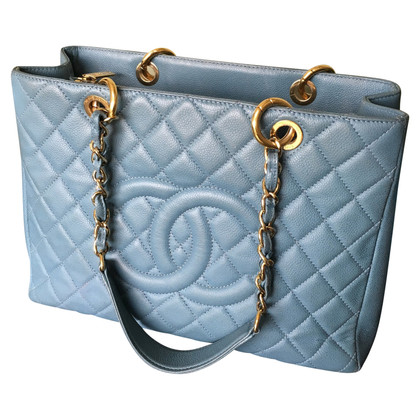"Chanel ""Grand Shopping Tote"" in blauw"