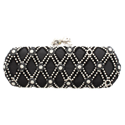 Alexander McQueen clutch with beaded embroidery