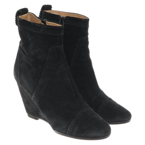 nouveau produit 76c35 74d46 Balenciaga Chaussures compensées en Daim en Noir - Acheter ...
