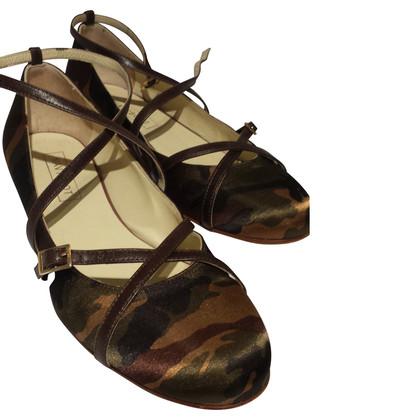 Navyboot Ballerina met camouflage patroon