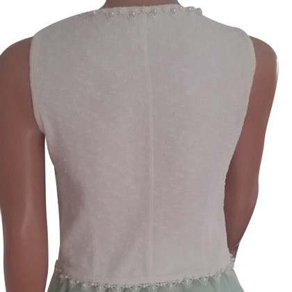 Chanel Bouclé top with pearls & lace