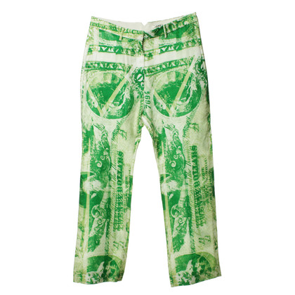 Acne Pants with a green pattern print