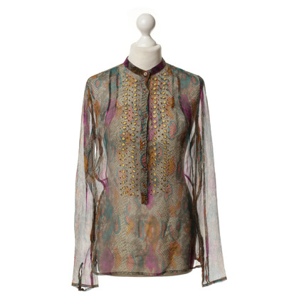 Antik Batik Silk blouse with print