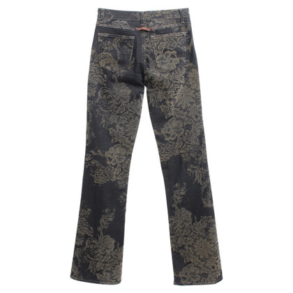 Just Cavalli trousers with velvet print