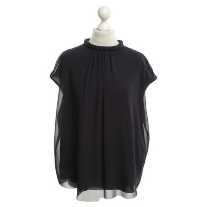 Cos Blouse in donkerblauw