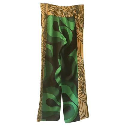 Dries van Noten Silk trousers with pattern