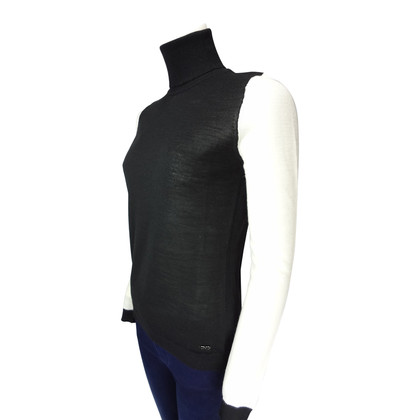 Costume National Turtleneck Sweater in black/white