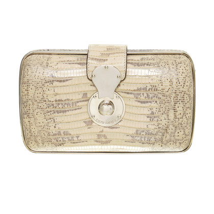 Ralph Lauren clutch in reptile finish