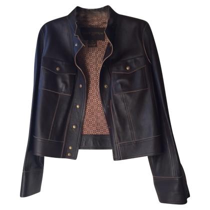 Louis Vuitton Giacca in pelle in marrone