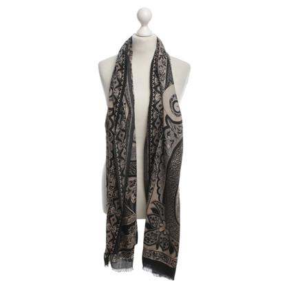 Etro Kasjmier sjaal met paisley patroon