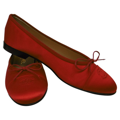 Chanel Ballerinas in Rot