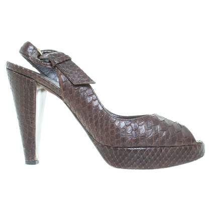 Walter Steiger Slingback pumps snake leather
