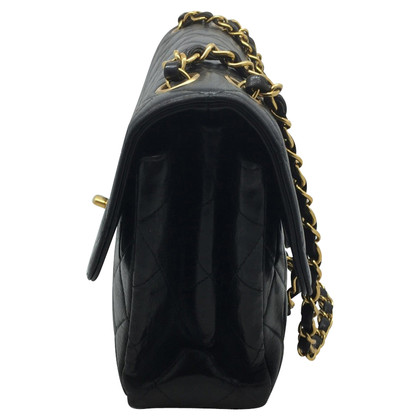 Chanel DOUBLE FACE vintage Chanel black leather