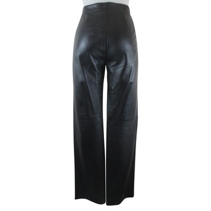 Armani Collezioni Pantaloni in pelle