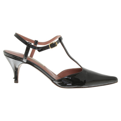 L'autre Chose Slingbacks made of patent leather