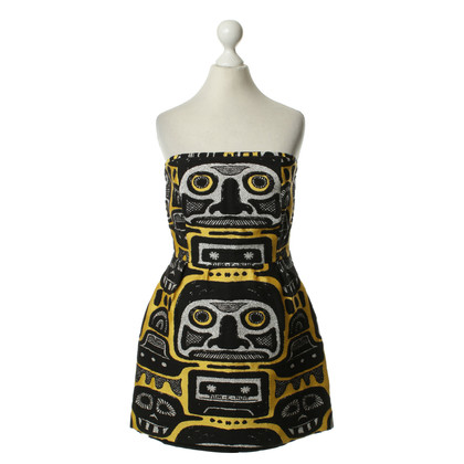 JC de Castelbajac Patterned dress in yellow