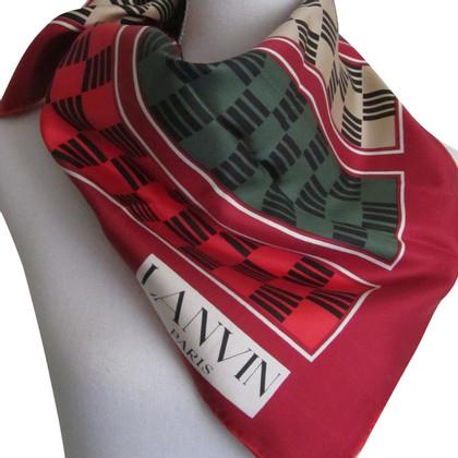 Lanvin Zijden sjaal met patroon