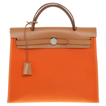 Hermès Herbag in Orange