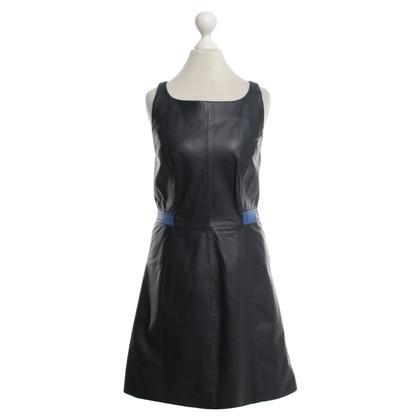 Other Designer Tru Trussardi - Leather dress in dark blue